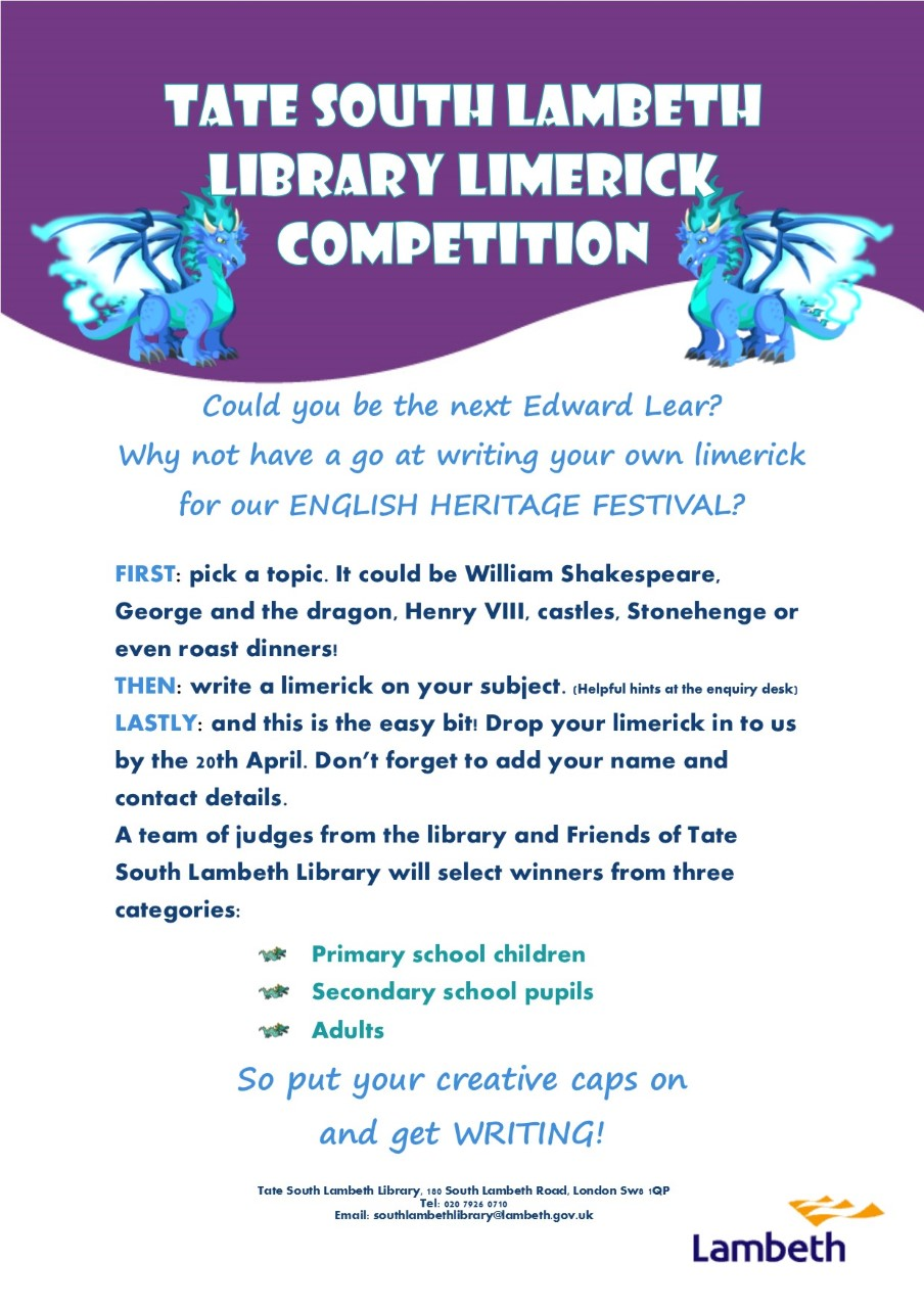 English Heritage Festival Limerick competiton April 2017